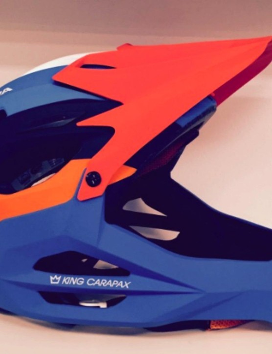 The King Carapax helmet from Alpina is a lightweight enduro-focussed helmet