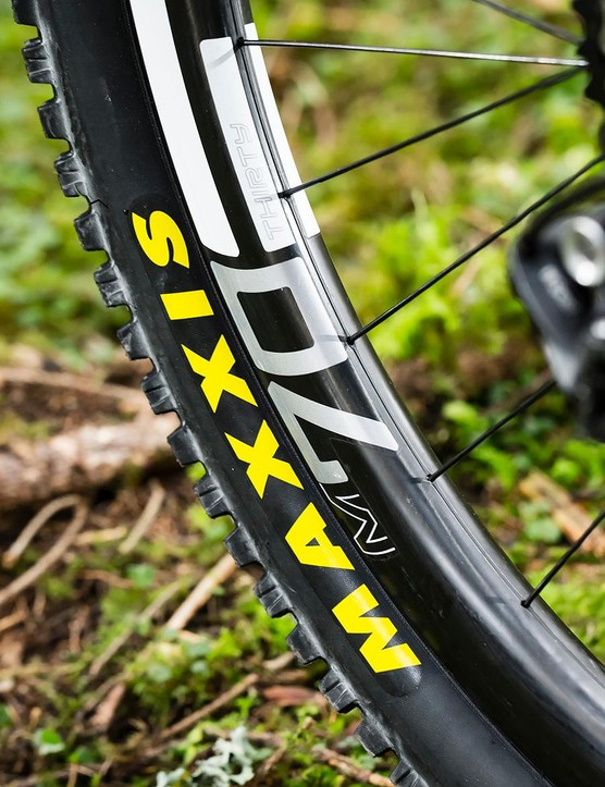 The stiff ENVE wheels can be loaded hard into turns for maximum exit speed