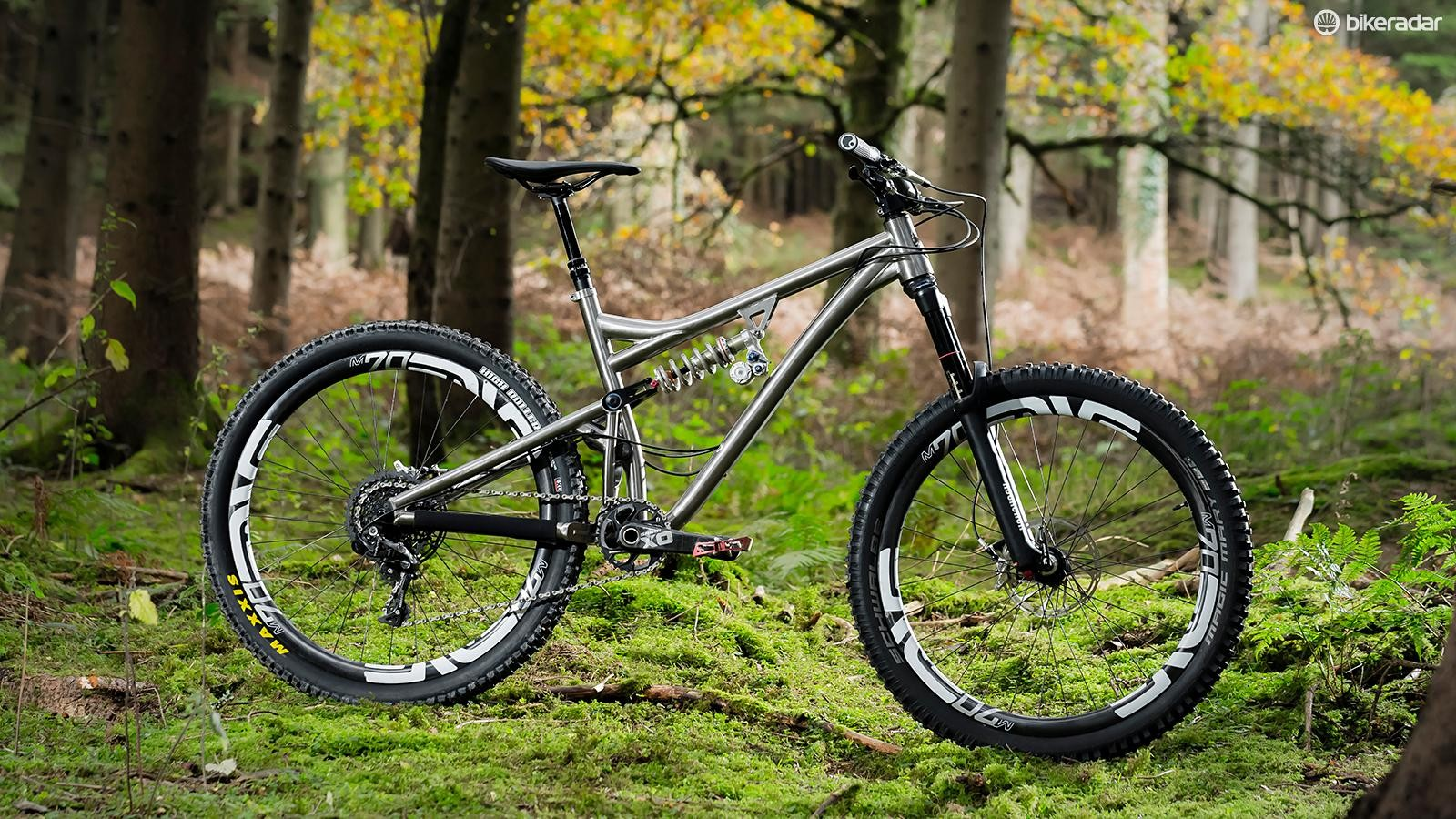 Titanium full-sussers like the Kingdom Switch are an expensive rarity, and our test bike had a build to match