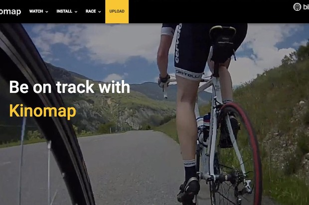 Kinomap offers a wide menu of user-generated ride videos from around the world