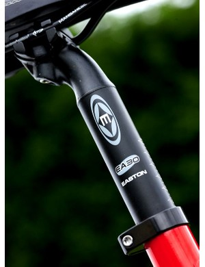 Easton EA30 seatpost functions well, despite being overbuilt