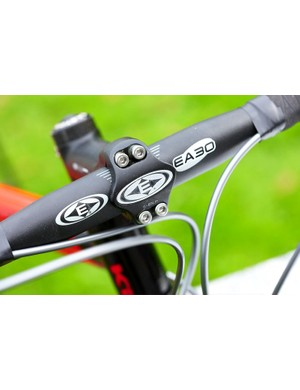 Easton EA30 components are great for the price although we would prefer a wider bar.