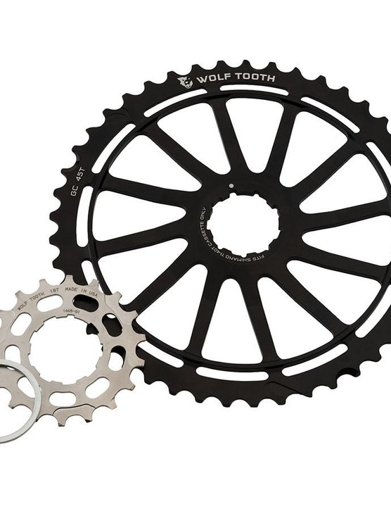 Wolf Tooth's GC45 kit extends the range of 11-speed Shimano XT and XTR cassettes