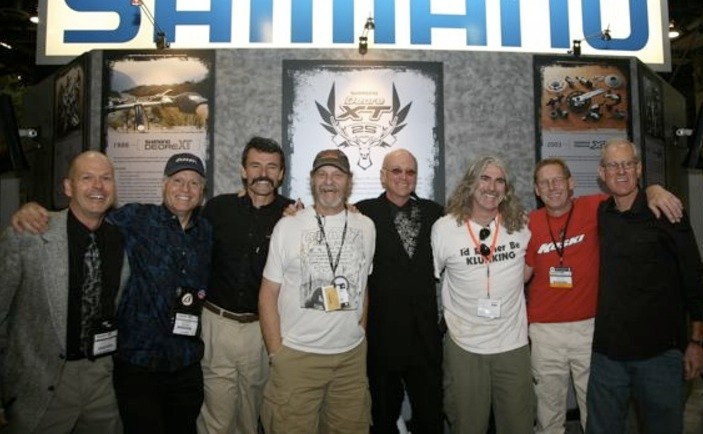 A gaggle of MTB pioneers at Interbike 2007.