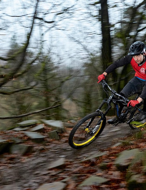 Designed as a playful freeride machine, the Knolly feels a bit out of place on most UK trails