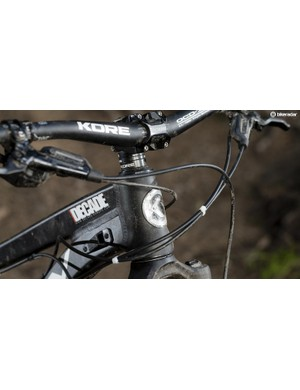 Stealth dropper post and part-internal cable routing options are available