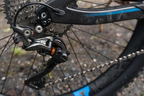 The Shimano XTR 11spd drivetrain isn't that common a sight but works very smoothly