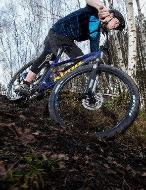 The Kona's BB sits 65mm below its axles, which makes for an incredibly stable, surefooted ride