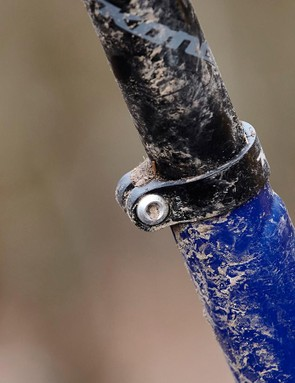 We'd get shot of the bolted seatpost clamp right away