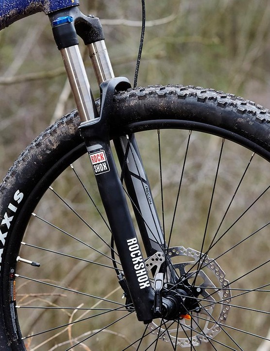 The RockShox Sektor up front isn't the most refined performer