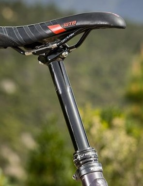 WTB's Volt saddle is a very decent perch, but the KS LEV dropper it's mounted to was less impressive