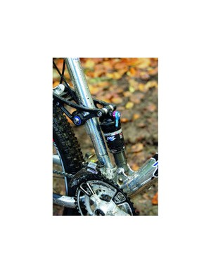 The Fox RP2 shock has ProPedal damping and rebound adjustment