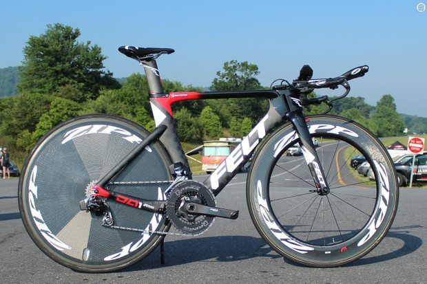 Kristin Armstrong's time trial bike is a two-person venture. Armstrong is responsible for piloting it; her husband Joe Savola is responsible for making it as fast as possible
