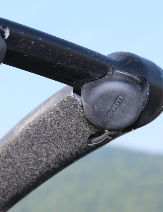 SRAM satellite shifters can be stuck basically anywhere for use with the eTap system