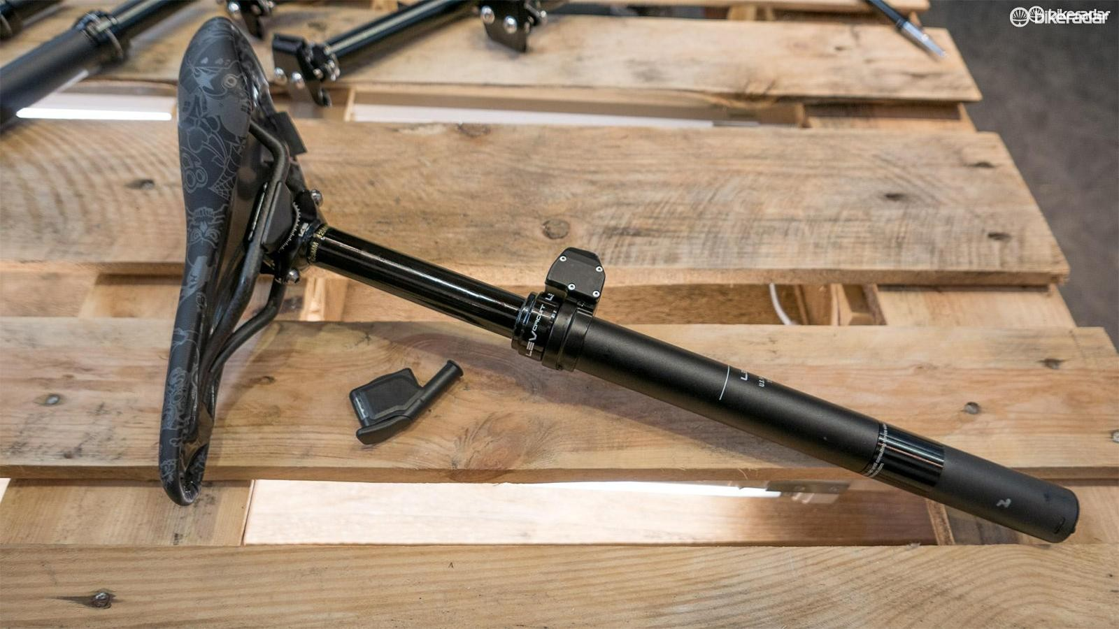The KS Lev Circuit is the company's first attempt at a wireless dropper seatpost