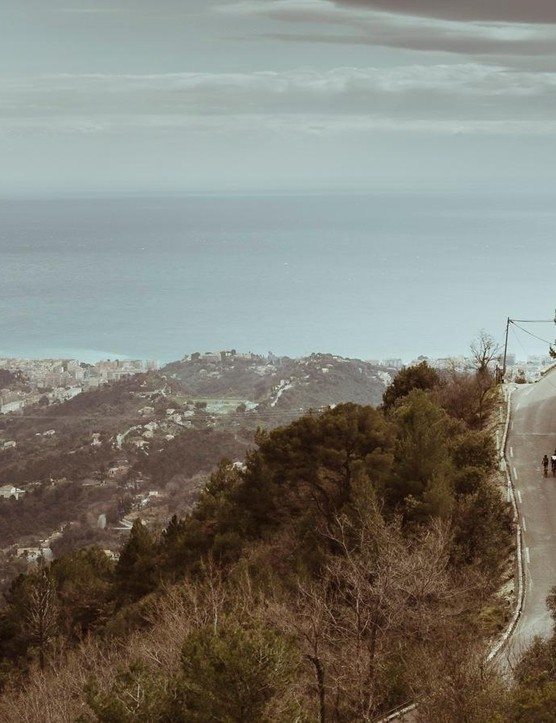 Mavic invited journalists to test ride around Nice, France, where the tail of the Alps provides ample climbing and hard-braking descending