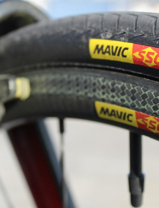 Mavic laser-machines the brake track to remove resin, contributing to very positive and consistent braking