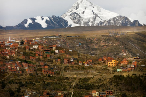 The Britons booked their adventure cycling trip in the Bolivian captital, La Paz