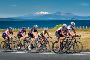 The Lake Taupo Cycle Challenge involves a single 160km loop on New Zealand's North Island