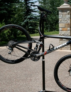 Lance's 22 pound Trek Top Fuel 9.9, dialed for the August 9 Leadville 100.