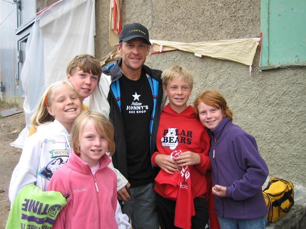 Lance and some admirers in Leadville, Colorado.