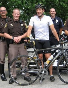 Lance and Waukesha County's finest on June 1, 2007.