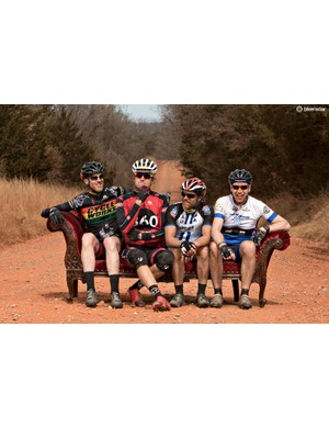 Racers were encouraged to stop on Salsa Cycles' chaise for a glamor shot