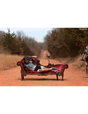 The mid-race chaise, courtesy the gravel-made folks at Salsa, is just one small part of the fun that is Land Run 100