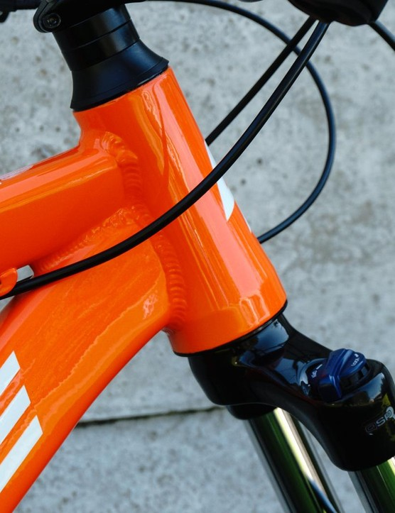 A tapered head tube opens up upgrade possibilities
