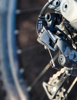SRAM NX gearing is perhaps a little out of place on such an expensive bike