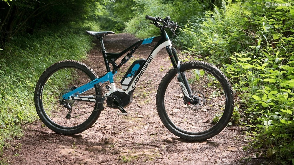 Lapierre's Overvolt FS 700 has a kinked top tube recognisable from its non e-bike siblings
