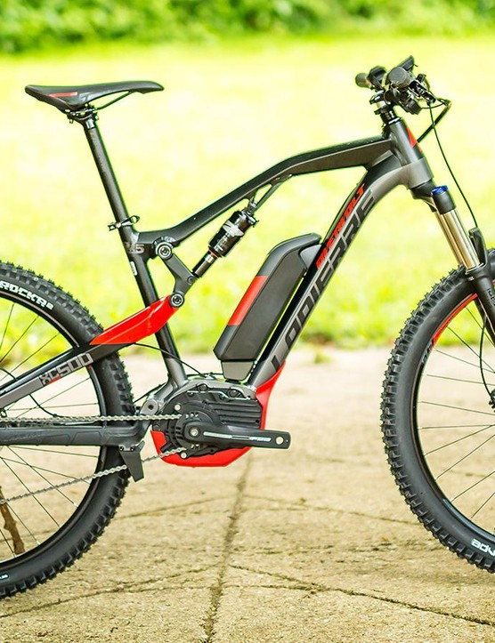 The new Overvolt XC sports 120mm of travel front and rear and is aimed as more of an all rounder. There's three bikes to choose from in the XC range, including the top tier XC500 pictured here