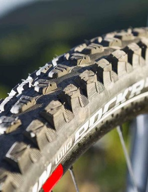 Michelin supplies the rubber and it's tough and grippy, if a little heavy for trail use