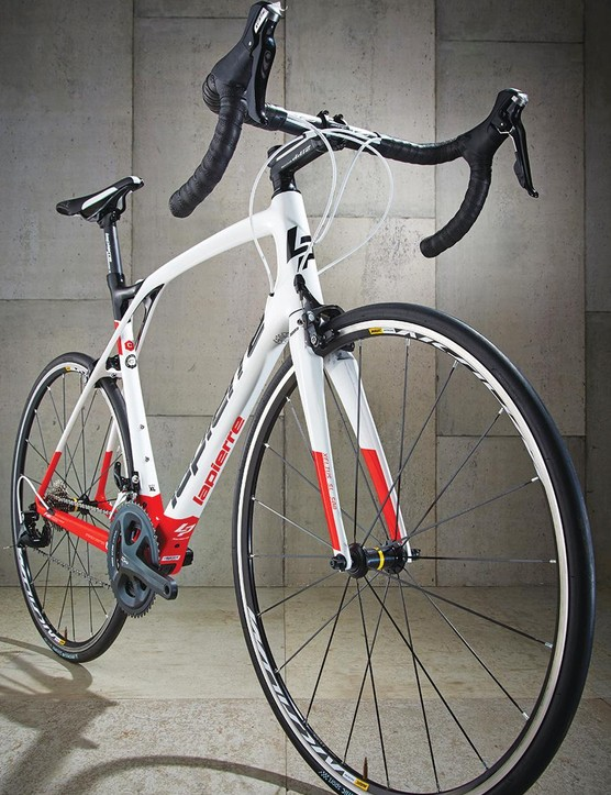 The fork has a muscular crown that blends almost seamlessly into the tapered head tube