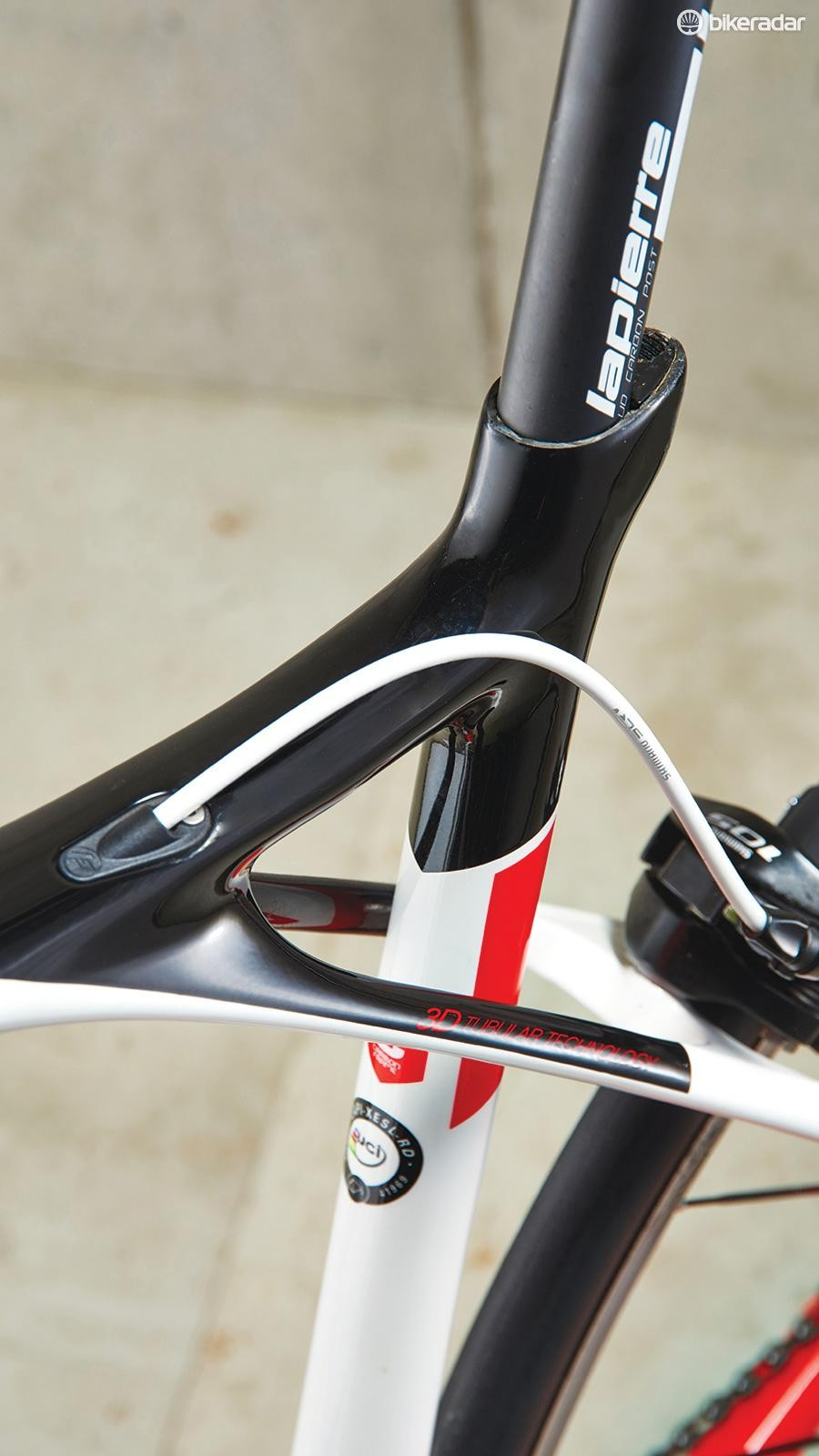 The Lapierre's unique frame configuration works wonders in the comfort stakes
