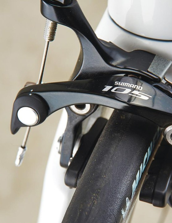 Shimano 105 is much more familiar but still very welcome