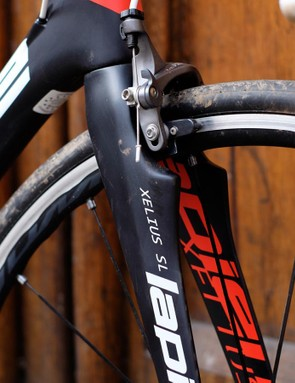 Muscular styling at the fork –though we're not 100% certain what the bumpy bits are for