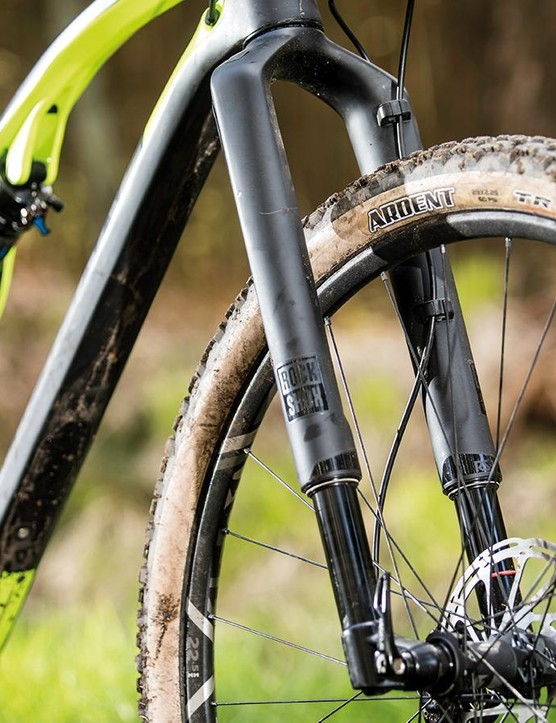 The XR's humped top tube, shock 'basket' and skinwall tyres give it a distinct look