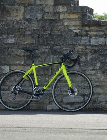 The Cross Carbon's fork features carrier mounts to make it a little more versatile than your average race bike