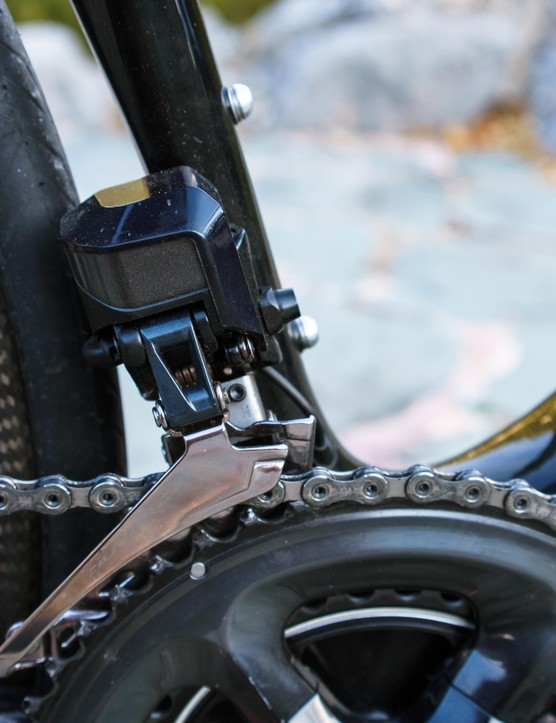 Dura Ace Di2 ensures snappy shifting