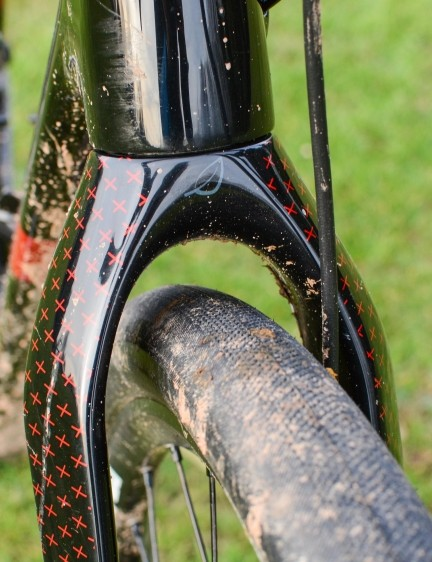 There's plenty of clearance around a 40mm tyre