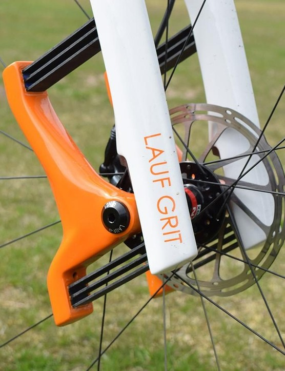 Laufs suspension system is based on a series of glass fibre leaf springs.