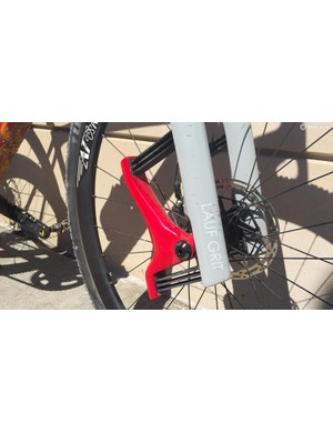 The Lauf Grit has 30mm of flex, thanks to its carbon leaf springs
