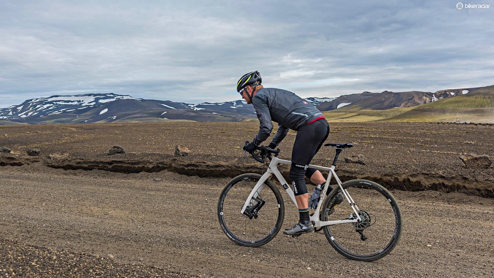 A handful of journalists, bikes and some epic scenery — Lauf says this is the perfect way to understand its products