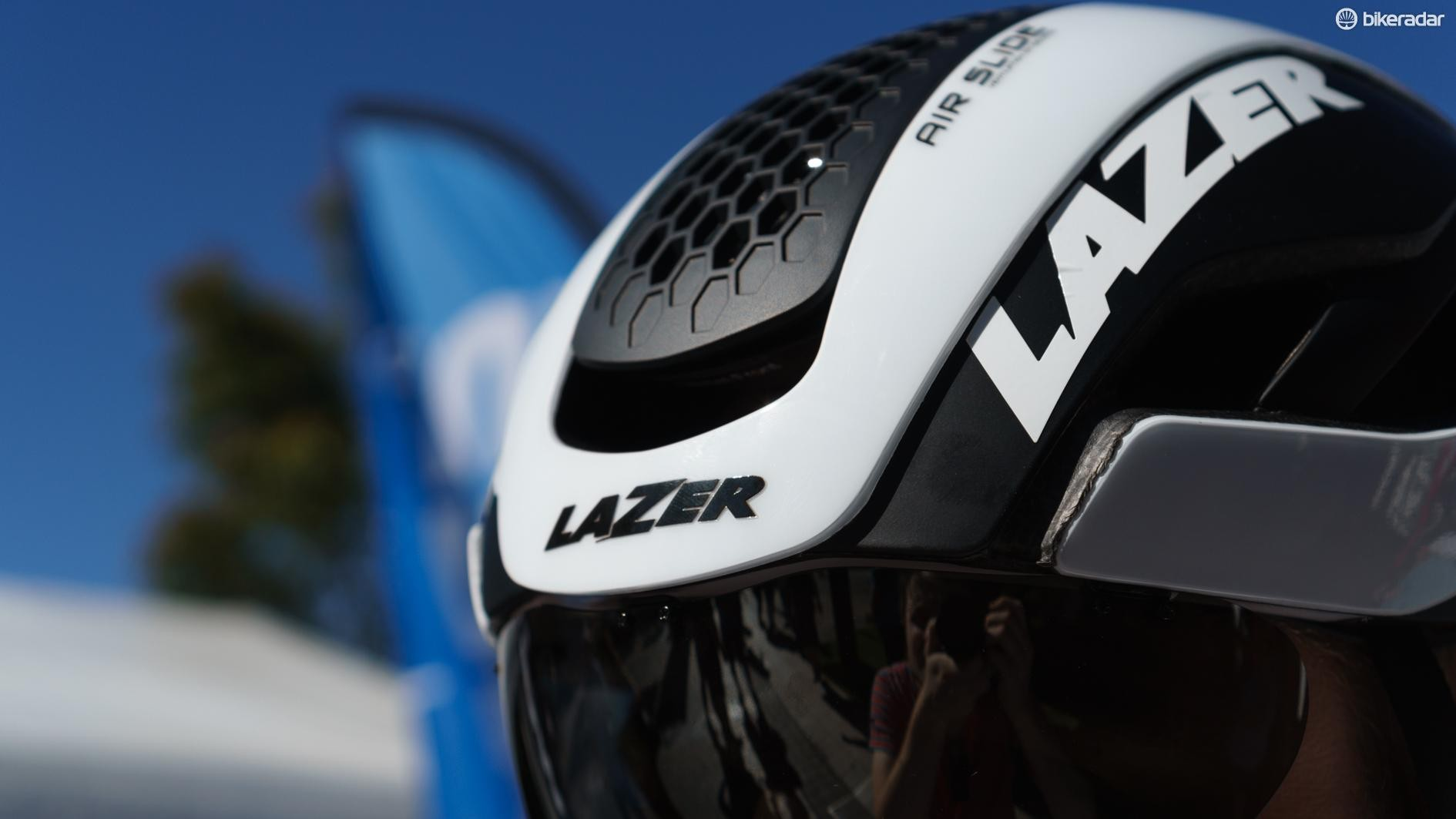 The new helmet retains the adjustable front main vent of the old model