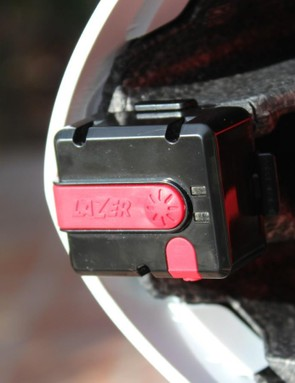 The inclination sensor is set with the press of a button to keep your head within a desired range for aerodynamics