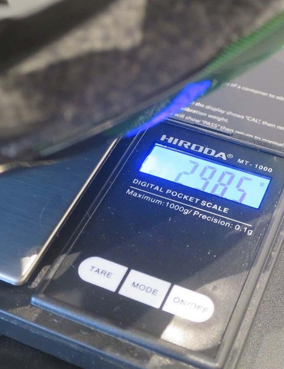 The large sample we saw tipped the scales at 298.5g