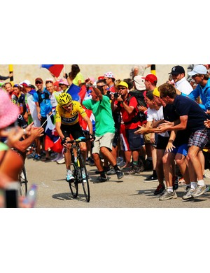 Bryn captured this fantastic shot at stage 15 of the 2013 Tour de France