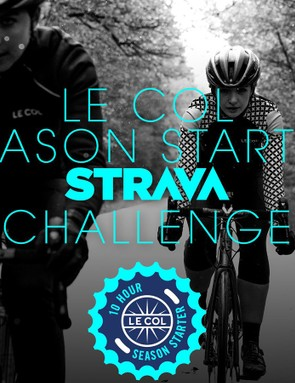 The Le Col Season Starter Challenge will be the first to let you compete with Zwift miles