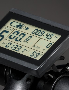An LCD display displays all relevant data from the motor and battery